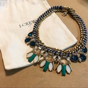 J. Crew Statement Rope & Jewel Necklace